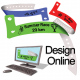 Design online plastic wristbands with logo and text