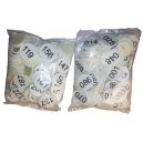 Bag of 100 sticky cloakroom discs with numbers