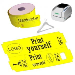 Direct thermal cloakroom ticket rolls for JMB4 printer