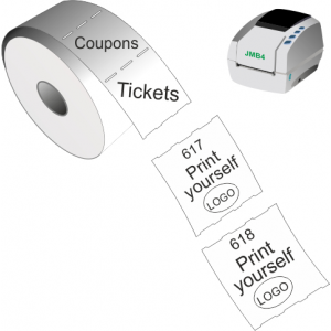 Print yourself tickets and coupons with JMB4 thermal direct printer