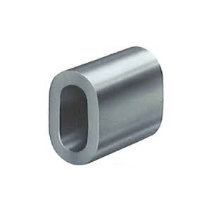Aluminum crimping ring for textile festival wristbands