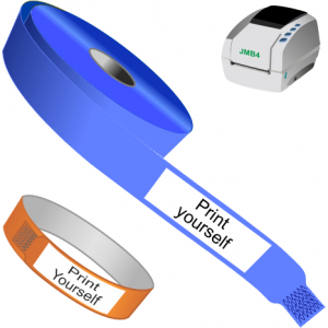 Direct thermal wristbands for printer JMB4