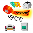 Print yourself using JMB4 thermal printer on reflective tapes