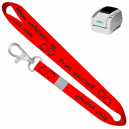 Print yourself lanyards using JMB4 thermal printer