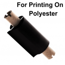 Foils for printing with a thermal transfer printer on polyester