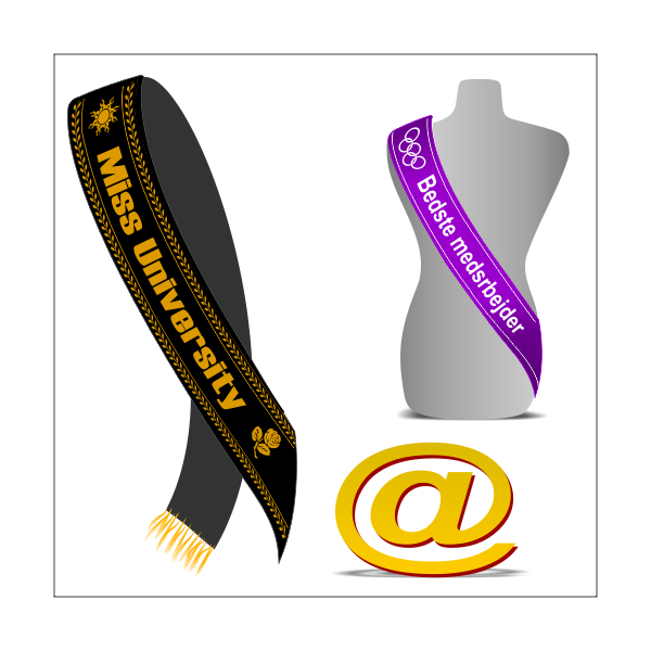 Send your design for printing on sashes