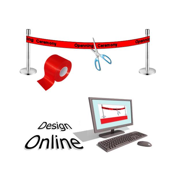Design online Inauguration ribbon