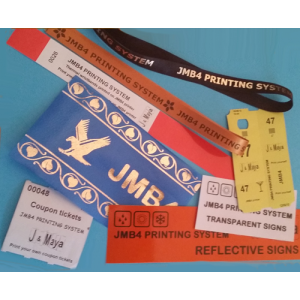 Printed media samples for JMB4 printing system