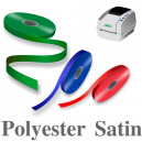 Narrow polyester satin ribbons