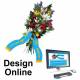 Design online bouquet ribbons with text and logo