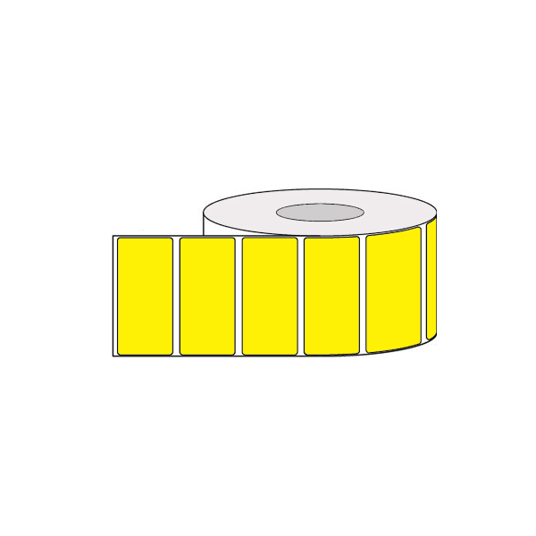 Rolls of colored adhesive labels for thermal transfer printing