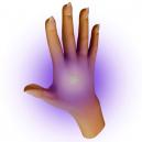 Detecting UV ink on human skin.