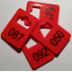 Reusable plastic cloakroom tags