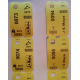 Printed Q-robe compatible cloakroom tickets