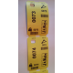 Coat check thermal tickets with printing