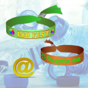 Textile festival wristbands made of recycled PET polyester