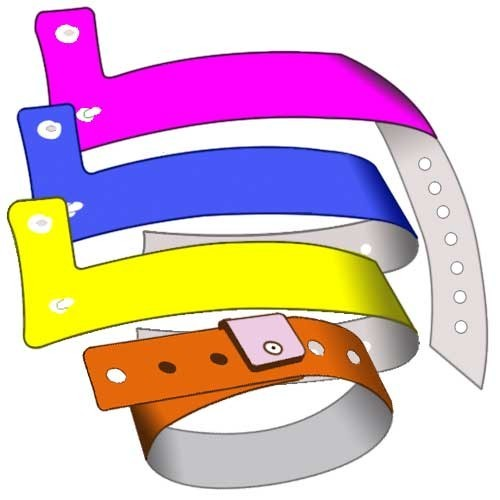 Plastic wristbands 19mm L with no print