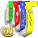 19mm narrow plastic wristbands with printing