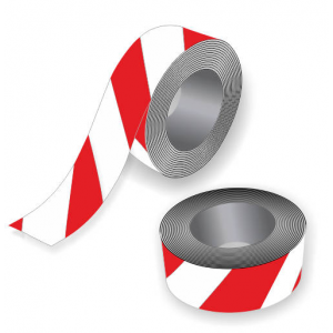 Barrier tape in red and white for sport events