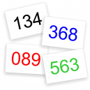 Race numbers colors In stock