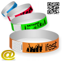 Paper wristbands print Via eMail