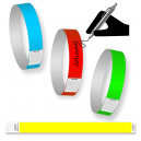 Paper wristbands one color In stock