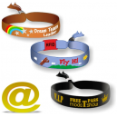 Woven textile festival wristband send your design