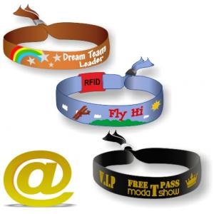 Woven textile festival wristband send your design