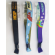 Fabric woven festival wristband with security lock