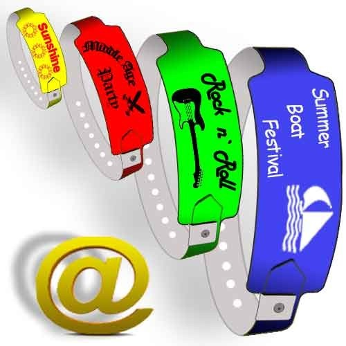 25mm plastic wristbands W send your design