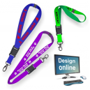 Design online lanyards with screen printing