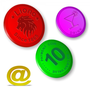 Plastic tokens embossed with your design