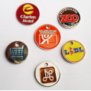 Plated iron trolley tokens in different colors