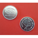 Coins and tokens made of aluminum