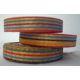 Fancy ribbon roll with metallic multi color pattern for fabric wristbands