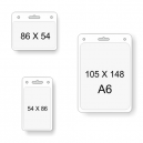 Transparent card pockets in different sizes