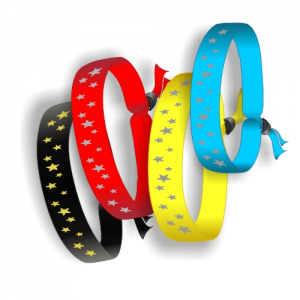 Textile wristbands for immediate delivery