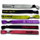 Fabric festival wristbands with different patterns woven