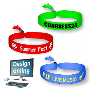 Design online your own textile festival wristbands