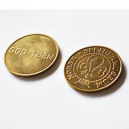 Brass tokens and brass coins