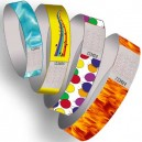 Paper wristbands with pattern printed