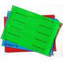 Custom printed Plastic wristbands sheets