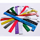 Custom printed narrow vinyl plastic wristbands