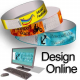 Paper wristbands with pattern design online