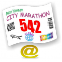 Race numbers print Via eMail