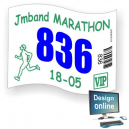 Race numbers print Design yourself
