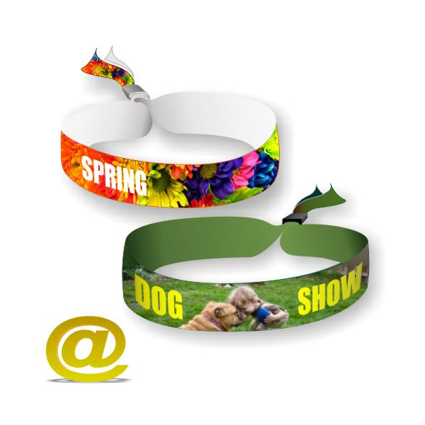 Polyester textile festival wristbands printed in full color