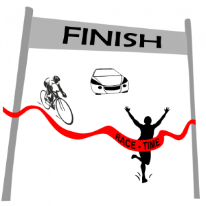 Finish line ribbon