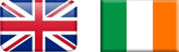 Uk Ireland flags