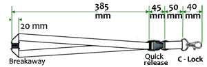 Dimensions and sizes of lanyard accessories